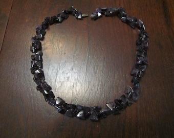 Amethyst Quartz Necklace Triangle Shapes