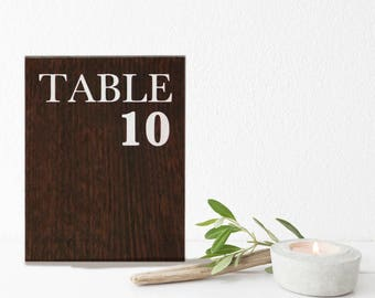 Table Number | Table Numbers For Wedding | Table Numbers For Sale | Table Numbers Signs | Table Numbers 1 - 20 | Rustic Table Numbers
