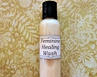 Feminine Healing Wash 4 oz.  Natural Feminine Care, Yoni Cleanser, Intimate Cleanser, Vaginal Irritation, Yoni Wash, Vaginitis Relief