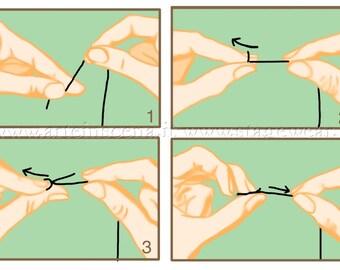 Basic stitches tutorial, in Italian