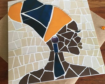 African/Ethnic Mosaic Card - Greeting Cards