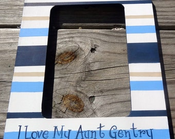 Striped Boutique Custom Painted Keepsake Frame Color and Design Options