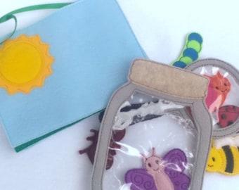 Felt quiet book - Toddler quiet book - Quiet book page - Toddler busy book - Busy book page - Felt busy book - 4 pages activity book #ACT75