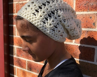 Slouchy Cowl Ponytail Beanie