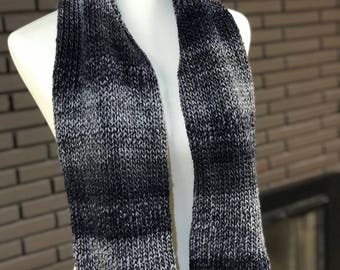 Black and Gray Ombre Scarf