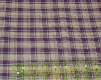 Homespun Burgundy Plaid Fabric