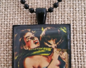 Get Your Filthy Tentacles Off of Me! Horror Pendant Necklace