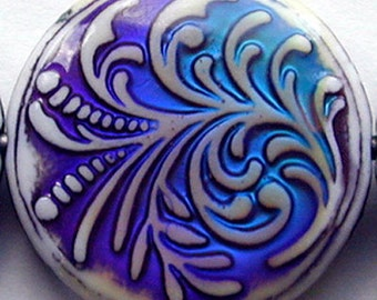 Mirage 23.5 x 7mm fountain fern color-changing mood bead