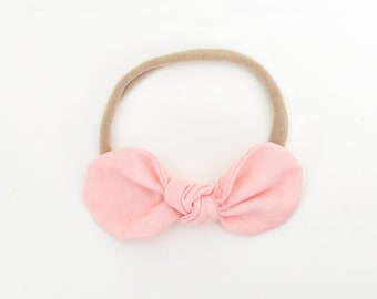 Pink Baby Bow, Bow Headband, Kids Hair Accessories, Toddler Headband, Monochrome Baby