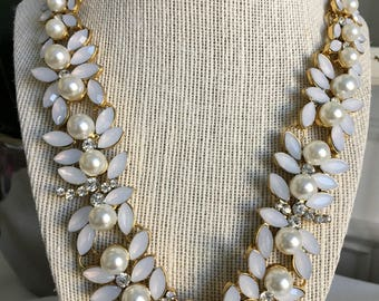 Vintage Inspired Faux Pearl Statement