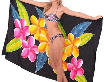 LA LEELA Sarong Bathing Suit Pareo Wrap Bikini Cover up Womens Skirt Swimsuit Swimwear- 901127