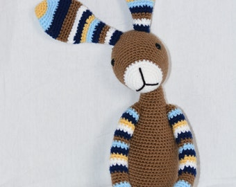 Striped Bunny Crocheted Stuffed Animal/Toy (Made to Order)