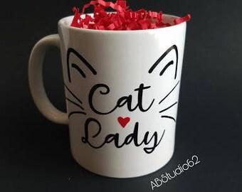 Cat Lover Gift, Cat Lady Mug, Cat Lover Mug, Cat Lady Gifts, Funny Cat Mug, Cat Lover Decor, Cat Home Decor, Cat Kitchen Decor, Cat Lady