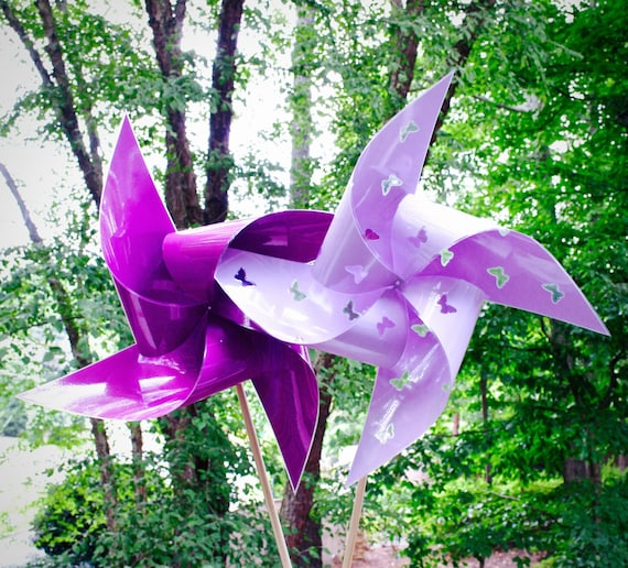 "4 Waterproof Cutout Butterfly Xtra Large 17"" Pinwheels"