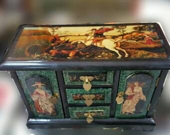 ART-DECO WOOD JEWELRY BOX