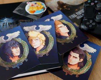 A6 Postcards Final Fantasy XV Gladios, Ignis, Noctis, Prompto