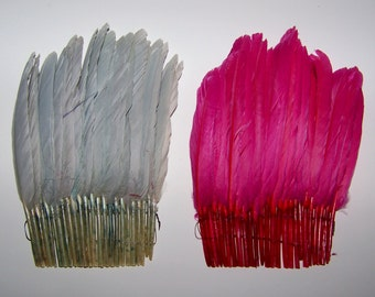 Vintage Millinery  Feather Quill Trim NOS Fancy