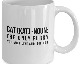 Funny cat definition mug cup