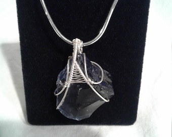 Andara Merlin Blue Royalty and the Mystical 18 inch Snake Chain Necklace.
