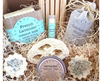 Mothers Day Lavender Lover's SOAP GIFT SET - Gift Set for Her - Mothers Day - Soap Box Set - Soap Gift Basket - homemade soap gift - soap
