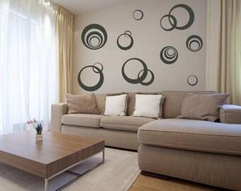 Wall sticker - Circles (2661n)