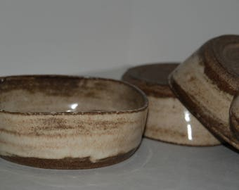 Handmade pottery bowl SET. Cereal or salad pottery bowl SET.