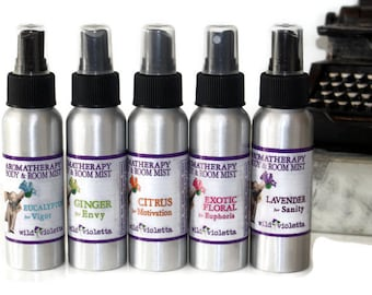 Room Spray Ginger Basil Great for the Kitchen // All Natural Air Freshener with Essential Oils