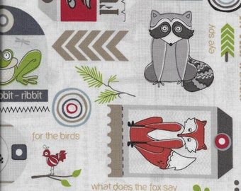 Timberland Critters fabric by Adorn It - 1 yard cut