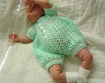 0005 Baby Boy Pattern,Newborn to 03 Months Pattern,Crochet Romper,Classic Set Infant Boys Pattern by CarussDesignZ