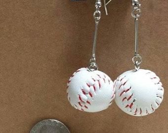 Baseball earrings-dangle basketball earrings