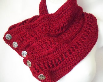 crochet Berry button cowl/scarf --4071503
