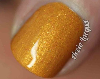 Lasso of Truth Nail Polish - goldenrod yellow shimmer