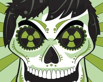 Hulk Sugar Skull Print 11x14 print