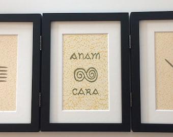 Soul Friend (Anam Cara) Ogham 3-Window Print