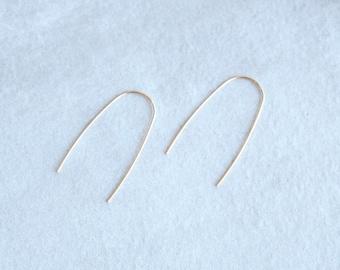14k Gold U Earrings