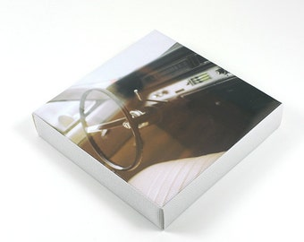 Small Square Canvas, Vintage Car, Photography on Canvas Print, Mini Artwork, Handmade