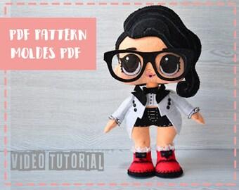 Patrón de muñeca Lol Surprise Black Tie