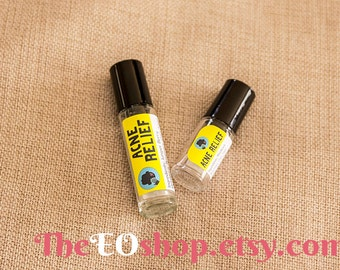 Acne Relief Roller Blend of Essential Oils for Pimples, Zits, Complexion