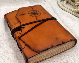 World map leather Personalized Travel journal| explorer notebook | Custom Adventure Journal | Quote Customization Journal