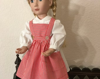 Candy Striper Outfit for 16  inch Doll