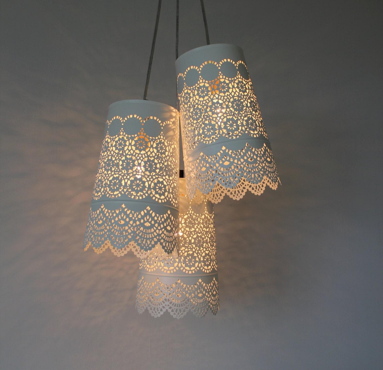 Babys breath chandelier upcycled hanging pendant zoom arubaitofo Choice Image