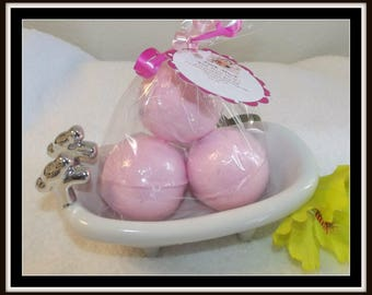 Maraschino Cherry Bath Fizzies, Pink Bath Bombs, Cherry Bath Fizzies, Set of 3 Bath Bombs, Bath Soak, Bath Bomb, Cherry Bomb