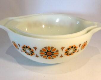 JAJ Pyrex Toledo set of 2 cinderalla mixing bowls - original from the 1970s