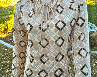 Vintage - 1960's Givenchy Sport - Womens Blouse - Size Small