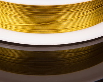 Spool of 20 meters of 0.3 mm gold wire