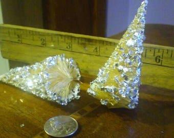 Vintage White Glitter Bottle Brush Christmas Tree