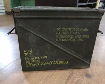Vintage 20mm Ammo Box