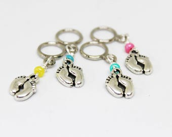 Baby Feet Non-Snag Stitch Markers