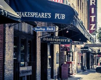 Shakespeare's Pub - Sixth Street - Downtown Austin, TX - Landscape Photography - Fine Art Photograph
