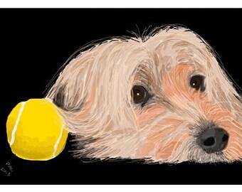 Dog Greeting Card, Blank, Coco Design No A6012